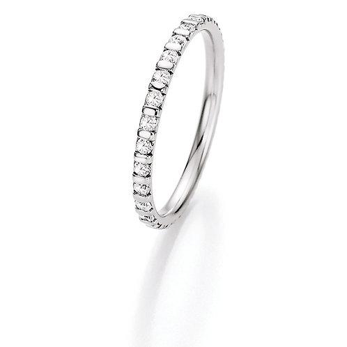 CR Ruesch Ring Weißgold 018-28 Eheringe