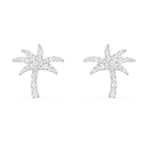 AE10577OX APM Monaco JUNGLE Palmen Stecker Silber