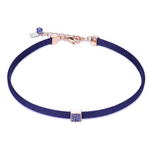 Coeur de Lion Halskette Kristalle Pavé & Mesh lila 0217100800