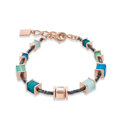 Armband GeoCUBE® Swarovski® Kristalle & Polaris petrol-mintgrün 4945300626