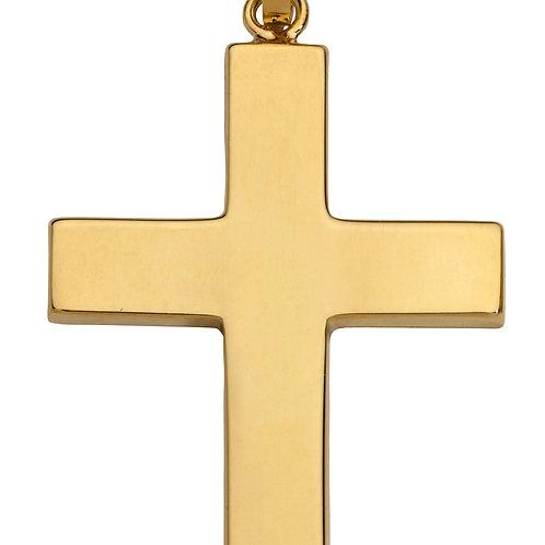 K09 SCHNEIDER BASICS Kreuzanhänger aus Gelbgold
