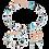 Thumbnail: Armband GeoCUBE® Swarovski® Kristalle & Edelsteine aqua-beige