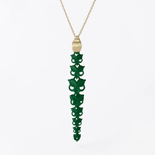 FABNORA BLOSSOM | FOREST GREEN | NECKLACE | L