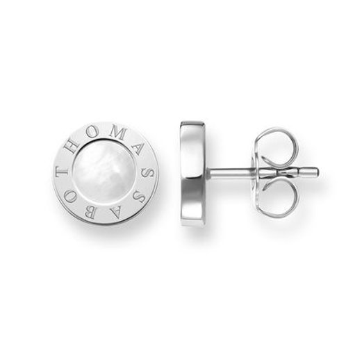 """H1859-029-14 THOMAS SABO Ohrstecker """"CLASSIC WEISS"""""""