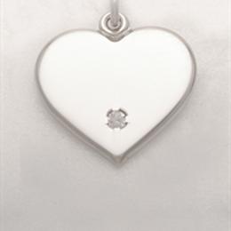 Herz mit Zirkonia