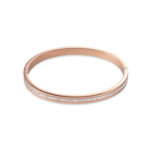 Armreif Edelstahl roségold & Kristall Pavé Streifen kristall 0226331800