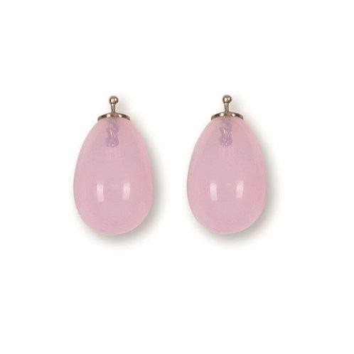 Quarztropfen, rosa quarz, 16mm