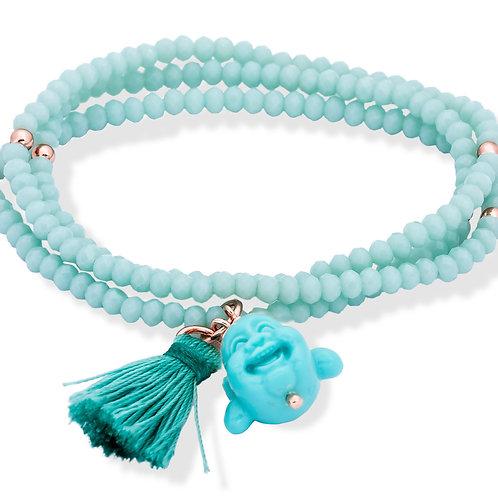 MARINA GARCIA JOYAS Armbänder ZEN Agua Blau in silber rose vergoldet