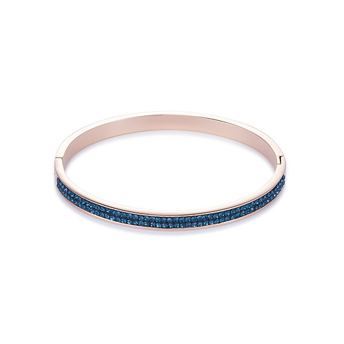 Coeur de Lion Bangle stainless steel rosegold & crystals pavé montana 0214330735