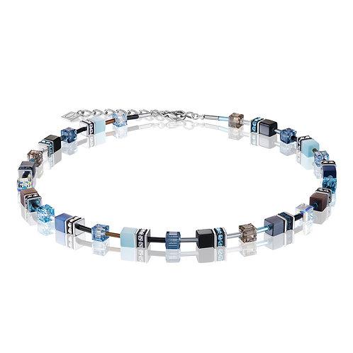 Coeur de Lion GeoCUBE® Halskette blau-aqua 2838100737