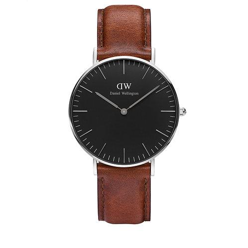 DW00100142 DW St. Mawes Classic Black 36mm Silber