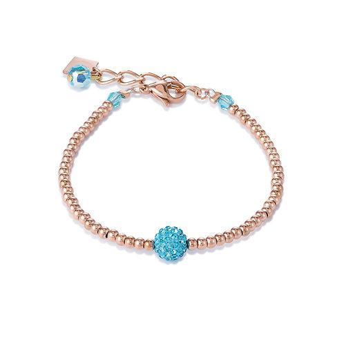 Armband Kristalle Pavé & Edelstahl roségold aqua 0212302000
