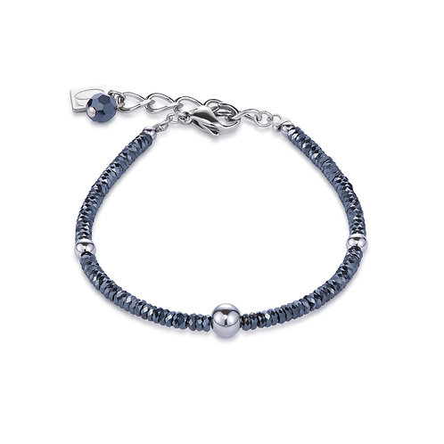 Coeur de Lion Armband Hämatit & Edelstahl silber 4933301700