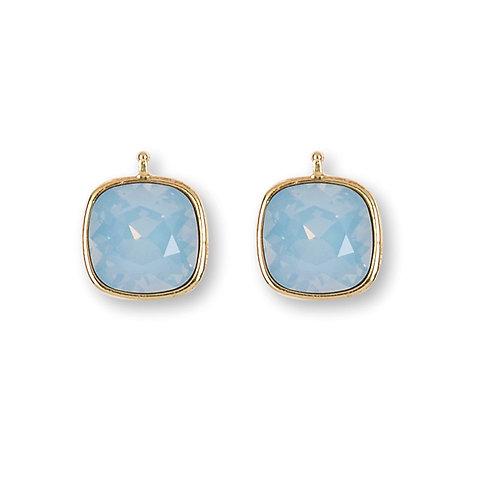 14mm Kristall vergoldet, 14mm Einhängerpaar, bleu
