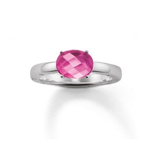 TR1851 Ring Pink Silber