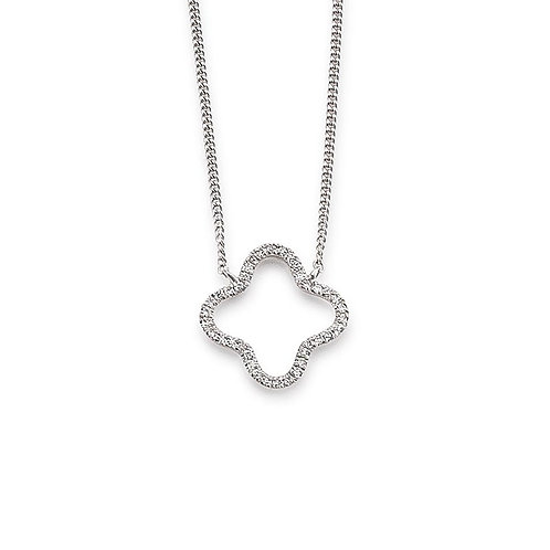 Palido Collier Weißgold Diamanten Kleeblatt K10984