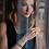 Thumbnail: Armband Wasserfall Edelstahl roségold & Glas anthrazit 4960301223