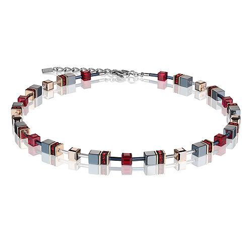 Coeur de Lion GeoCUBE® Halskette rot 4015100300