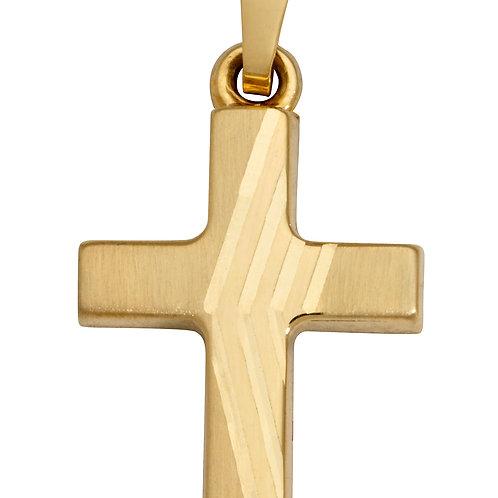 K17 SCHNEIDER BASICS Kreuzanhänger aus Gelbgold