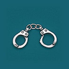 ANHÄNGER Polizei Handschellen Silber S0871