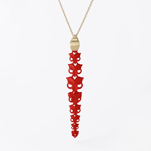 FABNORA BLOSSOM | LOBSTER RED | NECKLACE | L