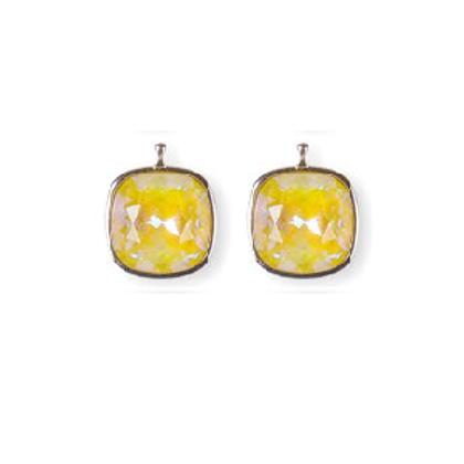 14mm Kristall vergoldet, 14mm Einhängerpaar, sonnengelb