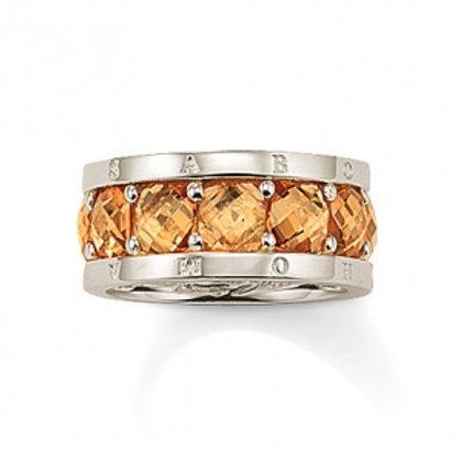 TR1756 THOMAS SABO Ring Braun Silber