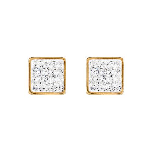 Ohrringe Edelstahl gold & Kristalle Pavé kristall 0317211800