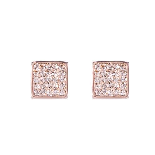 Ohrringe Edelstahl rosegold & Kristalle Pavé peach 0217210225