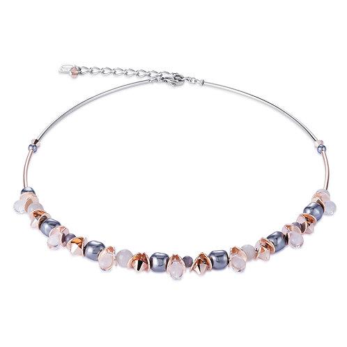 Coeur de Lion Halskette frontline Swarovski® Kristalle & Crystal Pearls