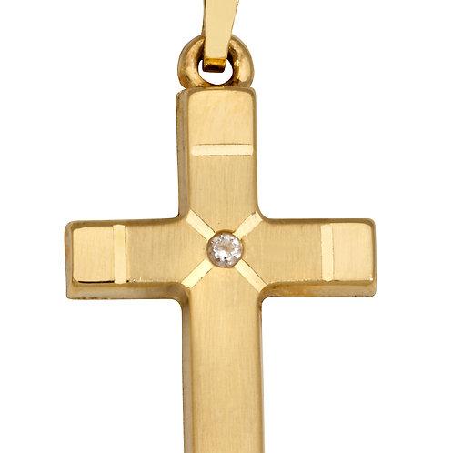 K16 SCHNEIDER BASICS Kreuzanhänger aus Gelbgold