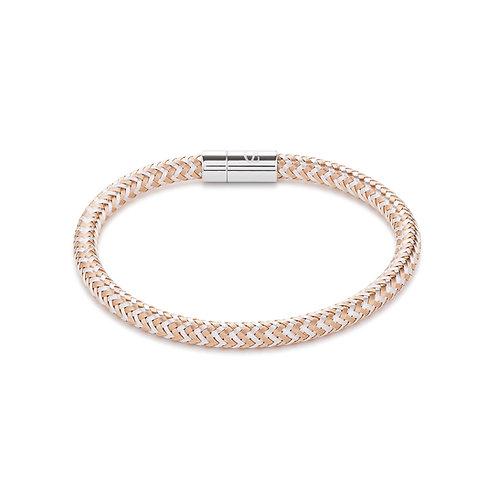 Coeur de Lion Armband Metall geflochten roségold-silber 0116311631