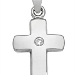 Kreuz glänzend Diamant