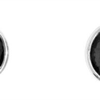 Ohrstecker mit Zirkonia schwarz