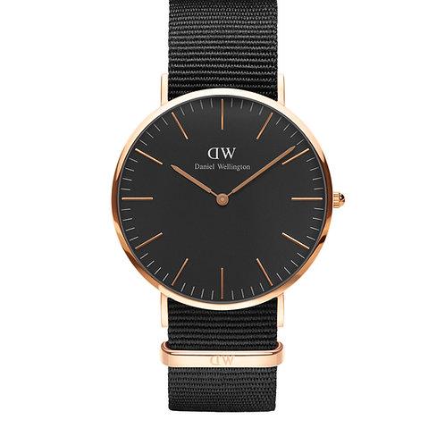 DW00100148 DW Cornwall Classic Black 40mm Rosegold