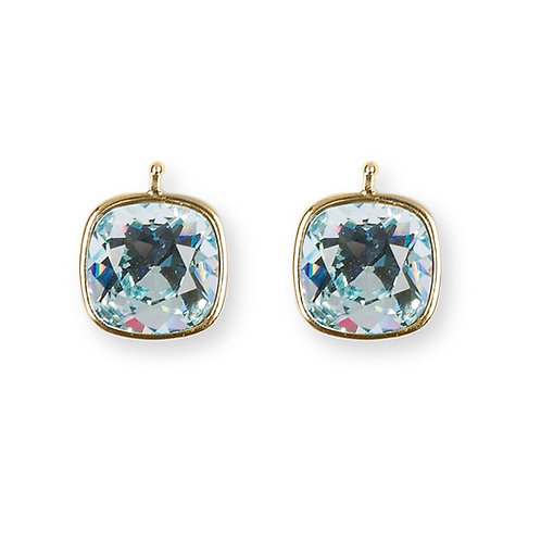 14mm Kristall vergoldet, 14mm Einhängerpaar, baby bleu