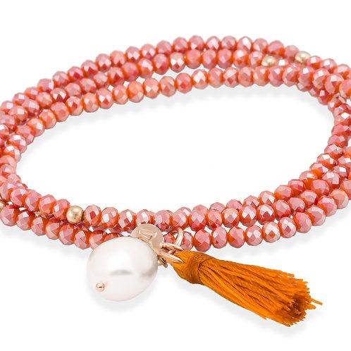 MARINA GARCIA JOYAS Armband ZEN Koralle in silber rose vergoldet
