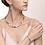 Thumbnail: Armband GeoCUBE® big Edelsteine, Swarovski® Kristalle & Edelstahl roségold blau-