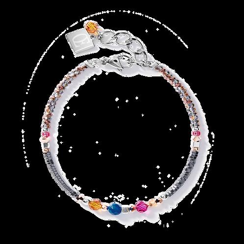 Armband Amulett small Swarovski® Kristalle & Achat multicolor Ethno