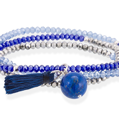 MARINA GARCIA JOYAS Armband ZEN Blau in silber