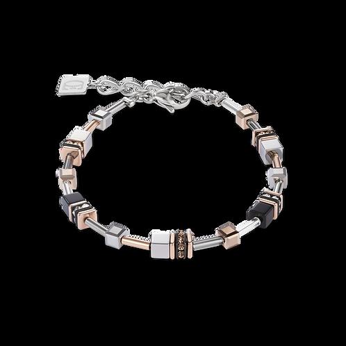 Armband GeoCUBE® Multitask 4-in-1 roségold-silber