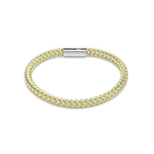 Coeur de Lion Armband Metall geflochten grün-silber 0116310517