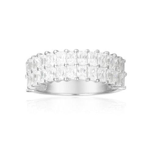 A17636OX APM Monaco ART DECO ECLAT Ring Silber