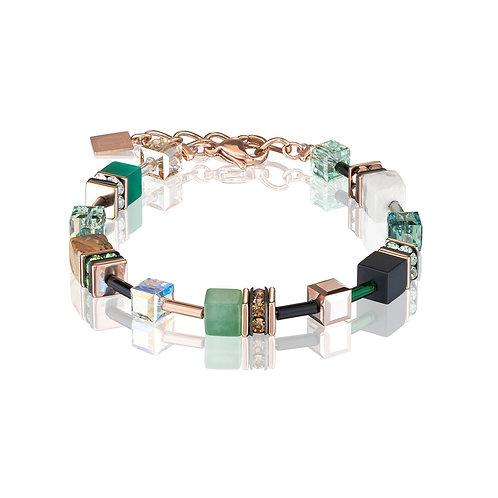 Armband GeoCUBE® Swarovski® Kristalle & Edelsteine grün-beige 4905300510