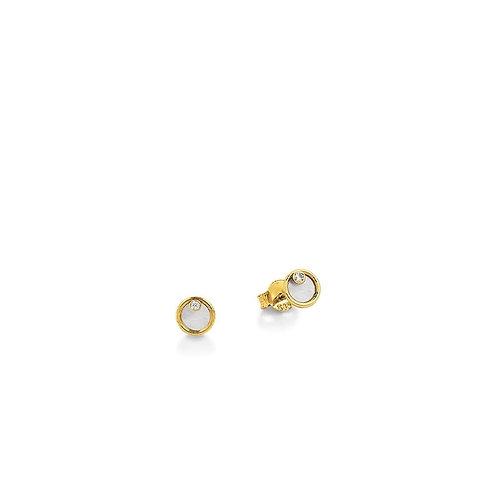 Palido Ohrringe Gelbgold Perlmutt Kreis K11563G
