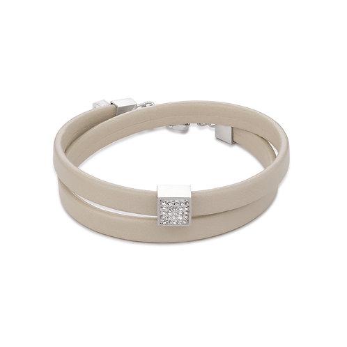 Coeur de Lion Armband Leder & Kristalle Pavé kristall 0117301800