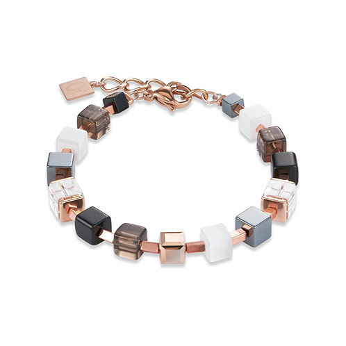 Armband GeoCUBE® Swarovski® Kristalle, Rauchquarz & Hämatit roségold 4984301620