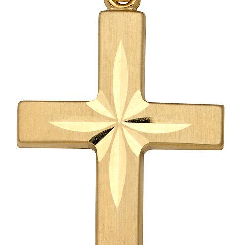 K01 SCHNEIDER BASICS Kreuzanhänger aus Gelbgold