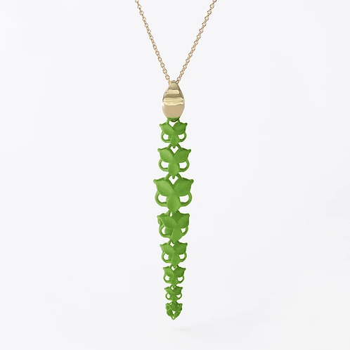 FABNORA BLOSSOM | LIME GREEN | NECKLACE | L