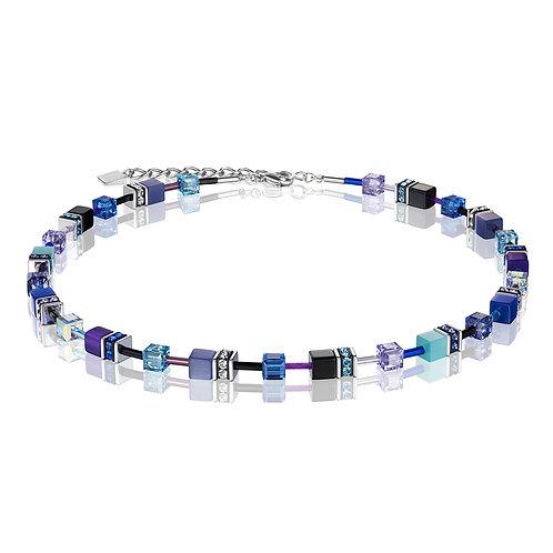 Coeur de Lion GeoCUBE® Halskette blau-lila 2838100708